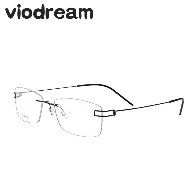 Viodream unisexe titane sans monture lunettes cadre fabriqué à la main lunettes montures pour hommes Oculos De Grau Masculino monture De lunettes