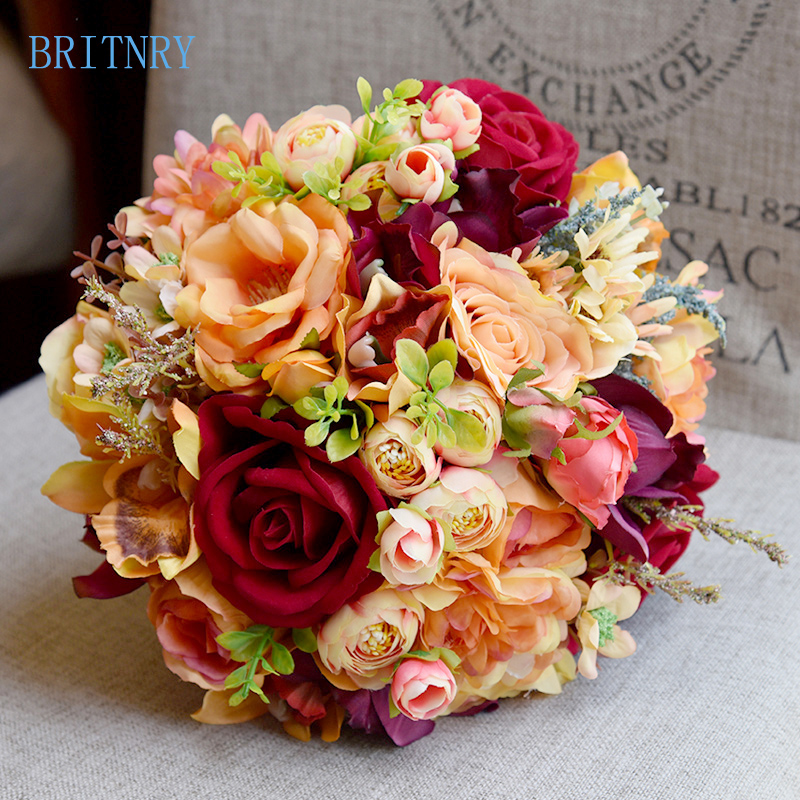 Handmade Wedding Flowers: BRITNRY High Quality Wedding Bouquet Handmade Artificial