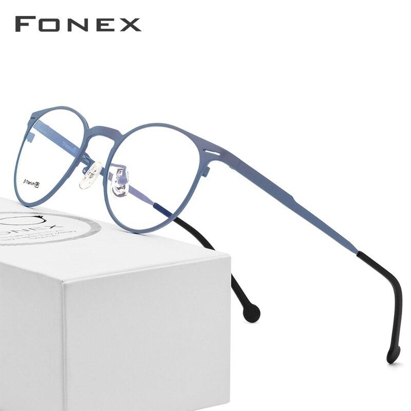 38ca579abc B pur titane lunettes cadre hommes femmes ultraléger haute qualité  Prescription lunettes 2018 ronde optique myopie