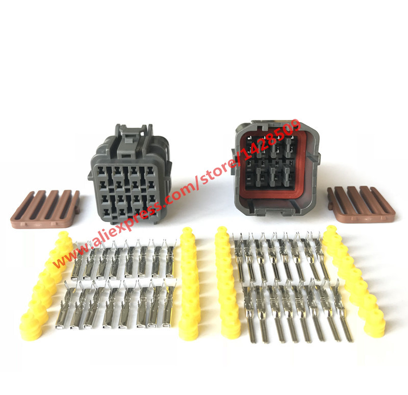 20 Sets 16 Pin 7123 7564 30 7222 7564 40 KET Female Male Automotive Connector Auto