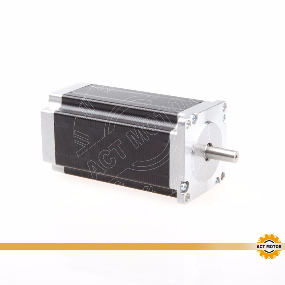 Free ship from Germany! ACT Motor 1PC Nema23 Stepper Motor 23HS2430 Single Shaft 4-Lead 425oz-in 112mm 3.0A Milling Machine Cut