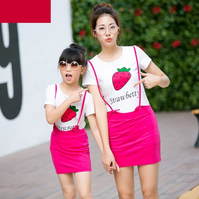 Family Matching Outfit 2pcs Dress Family Clothing Mother and Daughter Clothes Mom and Daughter Dress Fashion Clothing Sets TL06
