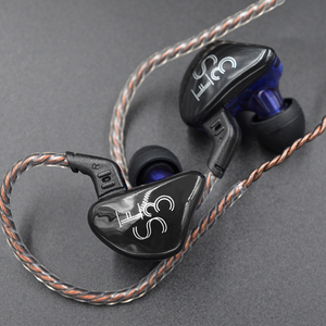 Image 3 - KZ ES3 1DD 1BA Hybrid Dynamic And Balanced Armature Earphone In Ear HIFI Stereo Sport Headset Suitable Bluetooth 100% Original