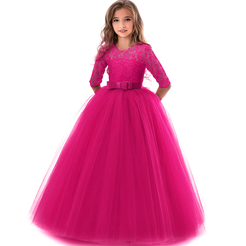 Image 5 - Girl's Birthday Party Dress Flower Girl's Banquet Party First Eucharist Party Dress Little Bridesmaid Wedding Party Dress-in Flower Girl Dresses from Weddings & Events