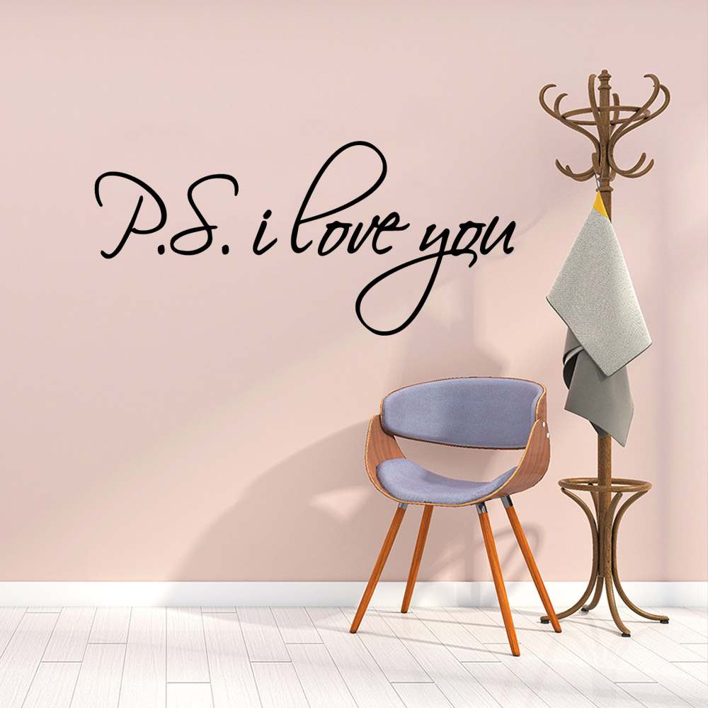 Diy letter Decorative Sticker Waterproof Home Decor Nursery Kids Room Wall Decor Background Wall Art Decal in Wall Stickers from Home Garden