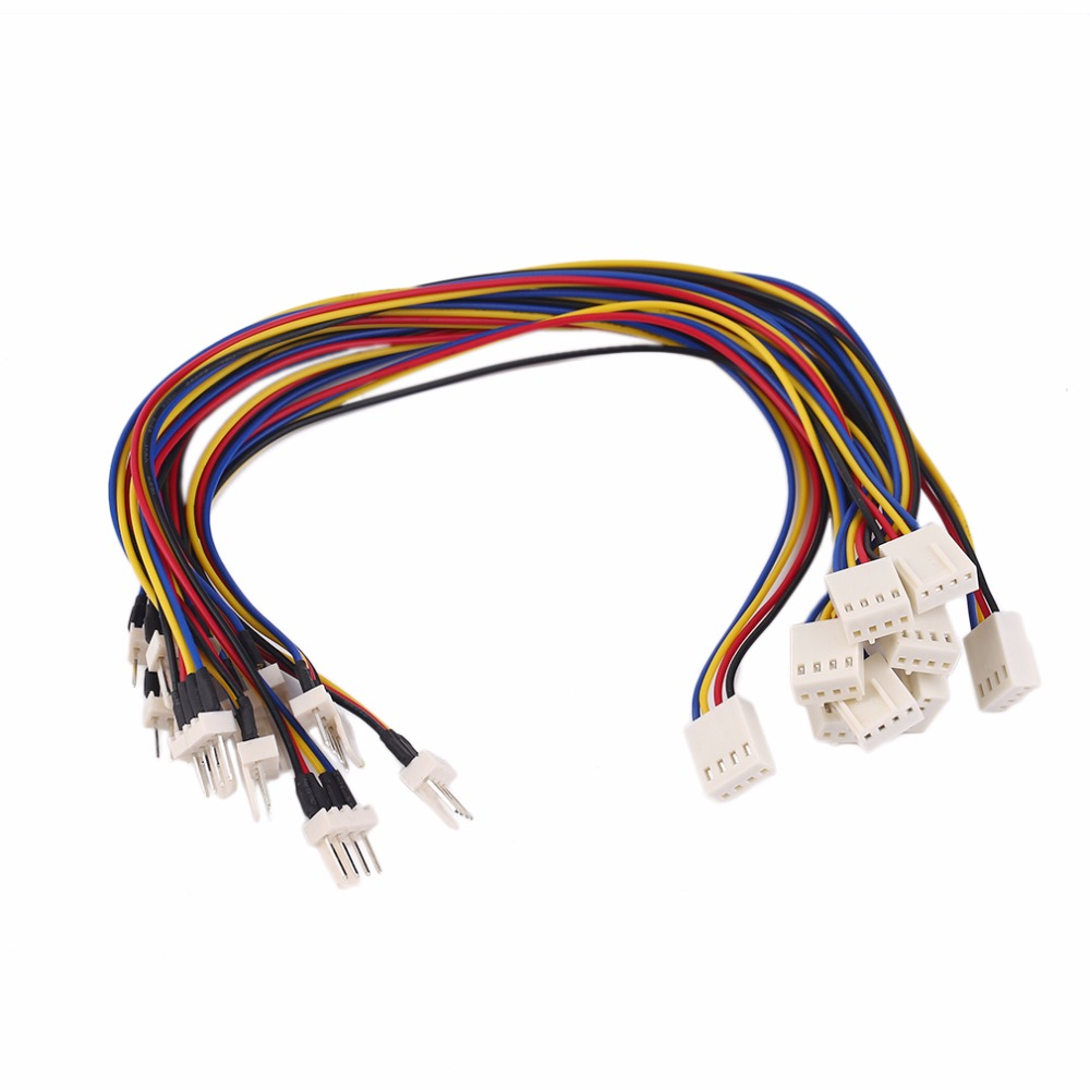 1/10pcs 4 Pins Male To Female CPU Cooling Fan Extension Resistor Cable Wire Internal Power Extension Cable Cord 4 pin female to dual male extension split cables for cpu fan multicolored 30cm 5 pcs