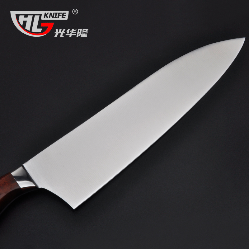 Sharp Kitchen Knives Faucets Delta 8 Inch Vg10 Knife Chef Japanese Stainless Steel Vg 10 With Shiny Wood Handle Free Shipping In From Home Garden
