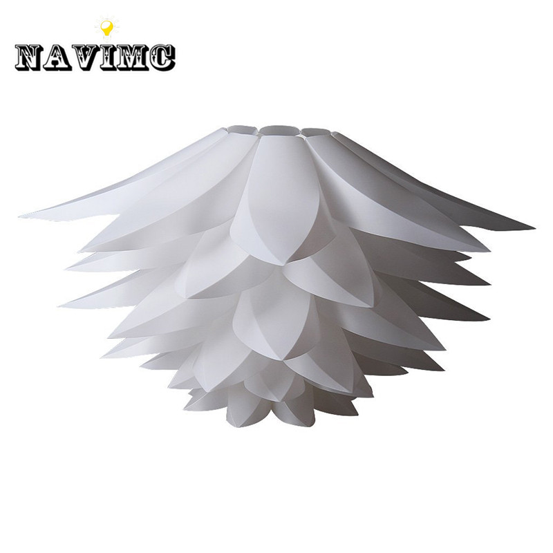 DIY Lily Lotus IQ Puzzle Pendant Lampshade Cafe Restaurant Ceiling Room Decoration LED Hanging Lamp