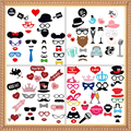 2017 New Wedding Decoration Photo Booth Props Funny Glasses Mustache Birthday Party Supplies Photobooth 22/27/31Pcs