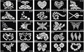 10 sheets Tattoo Template Temporary Body Painting Tattoo Stencil Large Size 15x12cm Mix Dedicated Patterns