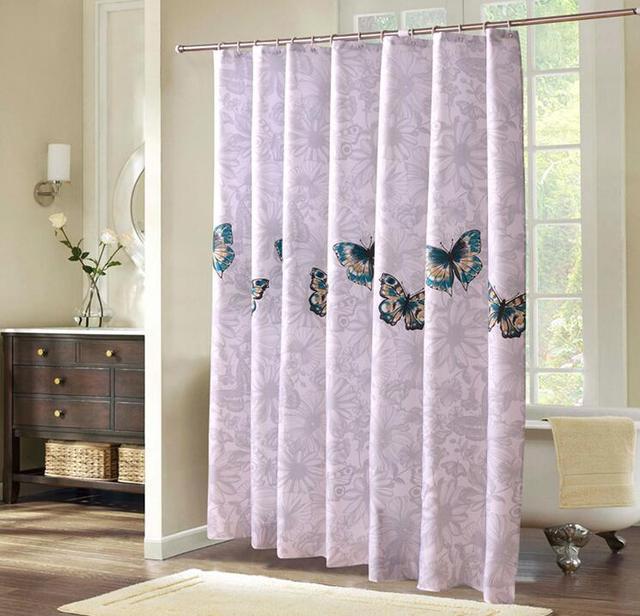 fyjafon polyester badkamer douchegordijn waterdicht moldproof polyester bad gordijn creatieve gedrukt 130g per vierkante meter