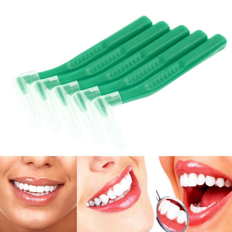 Brillant 5 Teile/paket L Typ Zahnseide Wiederverwendbare Interdentalbürste Zwischen Solide Flosser Oral Dental Hygiene Tiefe Sauberkeit Mundpflege Pinsel Diversifiziert In Der Verpackung Mundhygiene