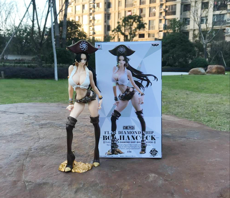 Pvc Flag Diamond Ship Boa Hancock Action Figure Anime One Piece Greatest Quality Sexy Pirates Of The Caribbean Captain Model Toy Toys & Hobbies