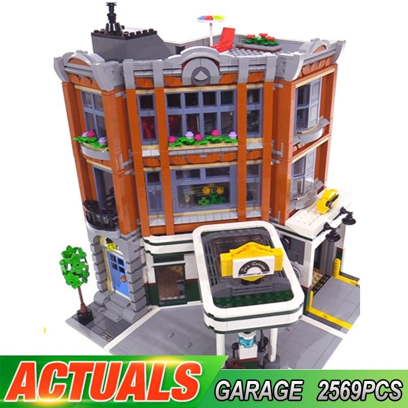 15042 coin Garage Compatible LGSET créateur Expert 10264 blocs de construction briques jouets éducatifs cadeaux pour enfants
