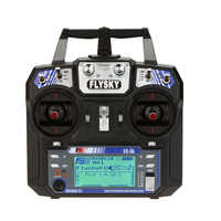 FlyskyのFS-i6 afhds 2a 2.4 ghz 6chラジオシステムrcトランスミッタ用rcヘリコプターグライダーでFS-iA6 rc受信機モード2