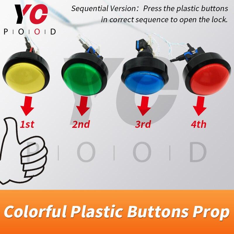 Les boutons en plastique colorés échappent aux fournisseurs d'accessoires de pièce 1987 pressent les boutons en plastique dans l'ordre ou en même temps pour déverrouiller YOPOOD