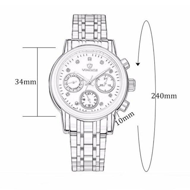 VINOCE 2017 Top Brand Luxury Quartz Watch Women Stainless Steel Band Bracelet Watches Waterproof Relogio Feminino #V6332422L