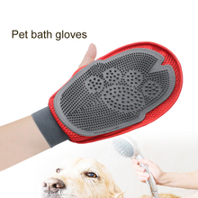 Pet Dog Cleaning Gloves Cat Dogs Bathing Massage Gloves Beauty