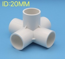 6pcs/lot inner diameter:20mm PVC water supply pipe fittings Five-dimensional tube connector стоимость