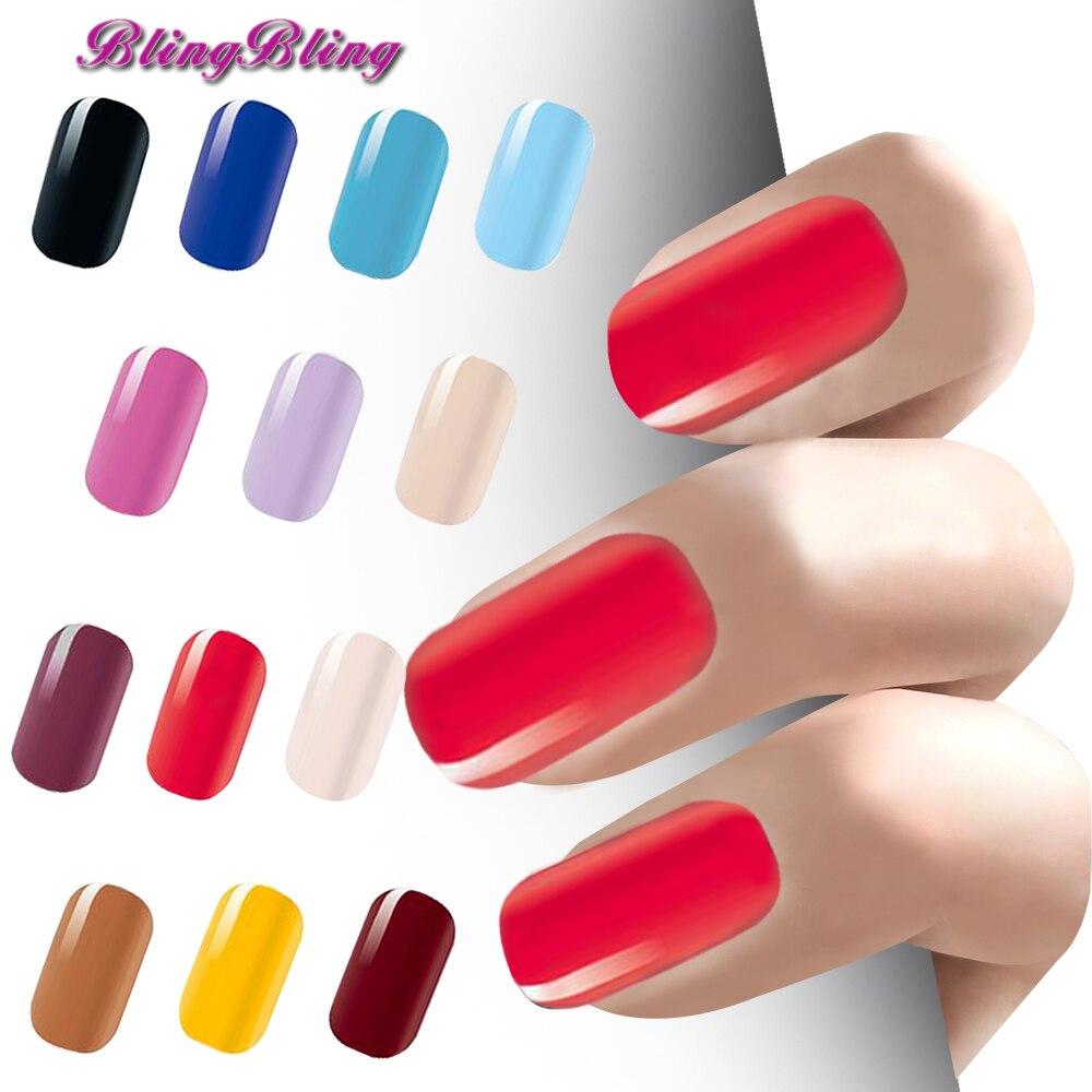 Blingbling Pure Color Waterproof Nail Arts Polish Gel Foils Nail ...