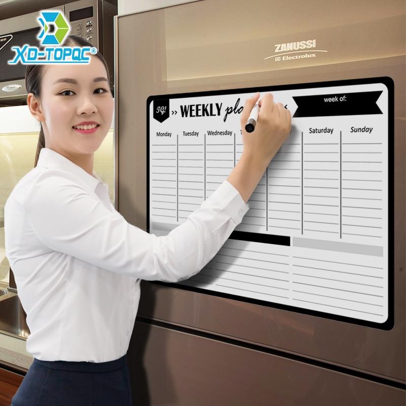 A3 Planejador Semanal Magnética Whiteboard Imã 29.7*42 centímetros Flexível Desenho Geladeira Mensagem Diária Branco Bulletin Board
