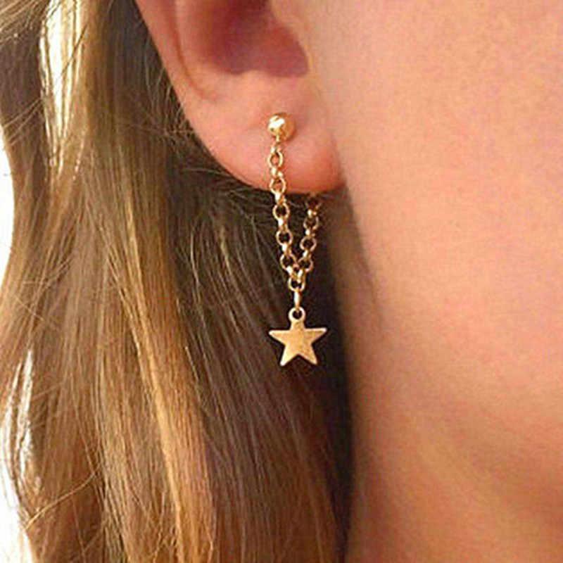 ญี่ปุ่น, เกาหลีใต้, ยุโรปและสหรัฐอเมริกา super ยอดนิยมแฟชั่นบุคลิกภาพของผู้หญิง mini five - pointed star ต่างหู