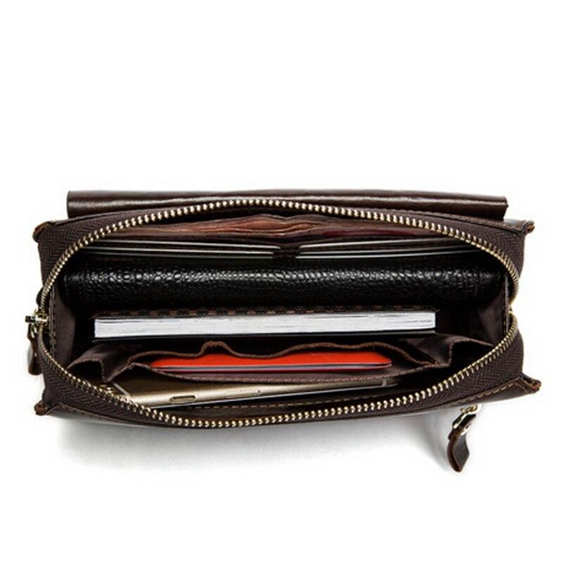 WESTAL äkta läder mäns plånböcker för kreditkort plånbok - Plånböcker - Foto 2