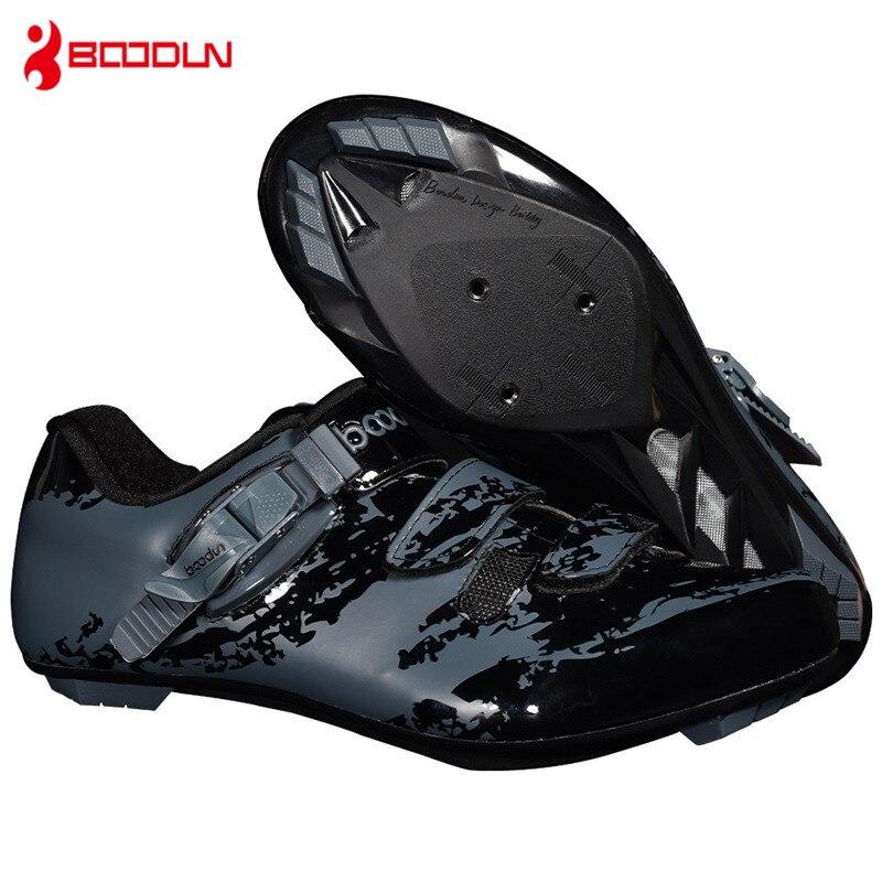 BOODUN Men s Cycling Shoes Nylon Sole 2019 New Anti skid Breathable Microfiber Upper Road Mountain