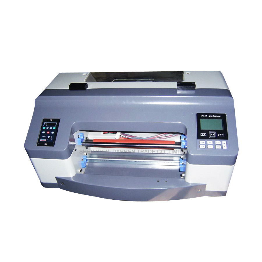 300 мм Цифровой горячего тиснения фольгой печатная машина полуавтоматическая цифровой принтер этикеток DC300TJ 200 точек/дюйм планшетный принте