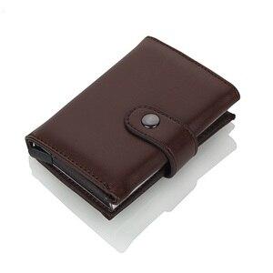 Image 2 - Weduoduo 2019 גבוהה באיכות עור מפוצל אשראי כרטיס בעל Rfid כרטיס מחזיק Rfid חדש עיצוב בנק כרטיס עסקי מקרי כרטיס כיס