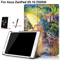 3 In 1 Luxury Stand Folding Smart Print PU Leather Cover For Asus ZenPad 3S 10
