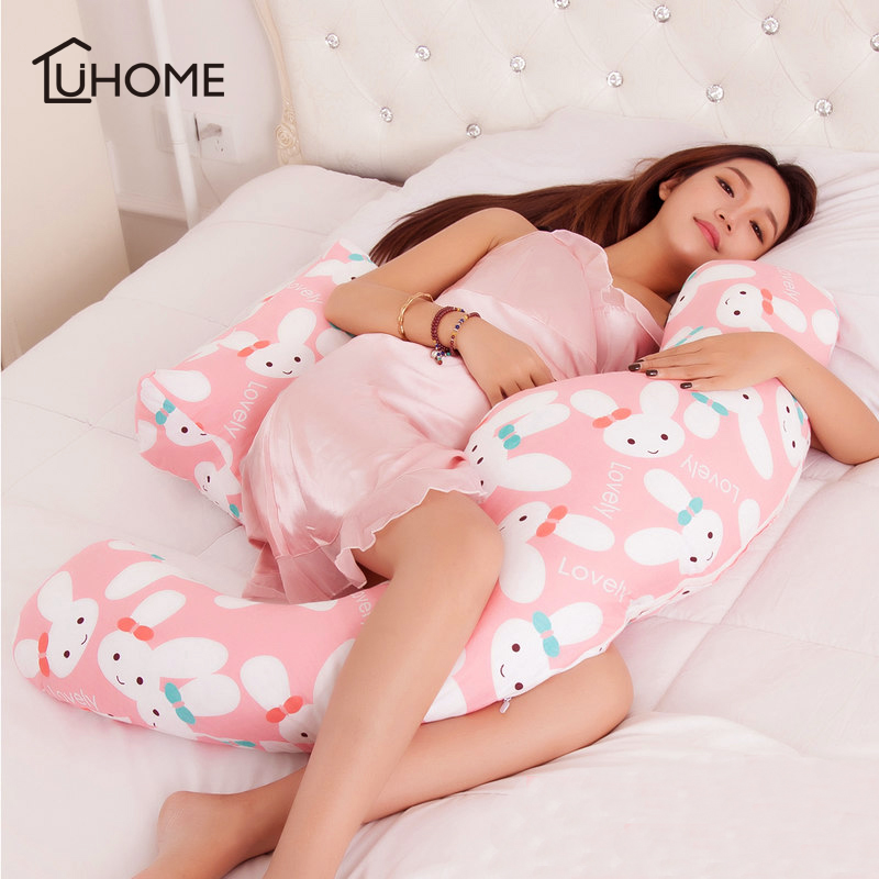 Pregnancy Body Pillow For Pregnant Women Big H Shape Body Pillow For Side Sleeper Cover Removable Waist Protect Pregnancy Pillow