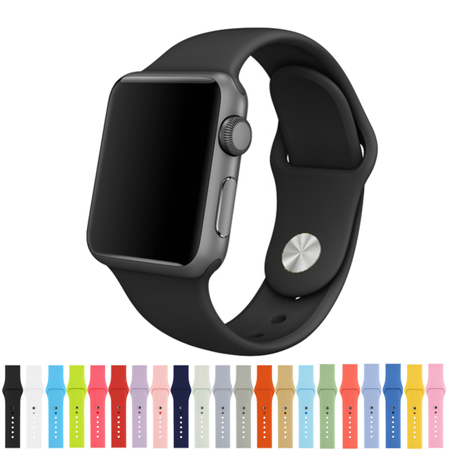 42mm 38mm Silicone Watch Band For for iWatch Sport Buckle Bracelet Series 1 2
