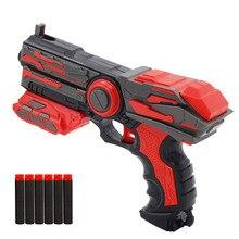 Ручной мягкий пулемет костюм для Nerf пули EVA пустотелые пули игрушечный пистолет наружная игра игрушки Детский Дартс бластер