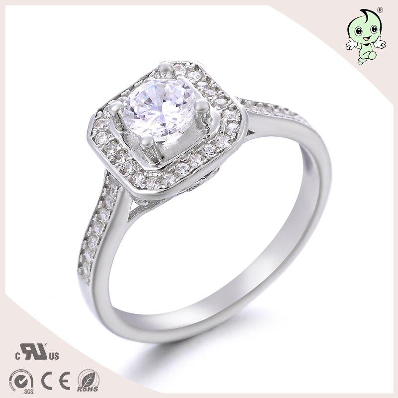 35ee1f661e6f Marca 925 plata esterlina moda joyería Crystal ZIRCON Anillos mujeres  rhinestone austríaco joyería partido vintage Anillos anillos
