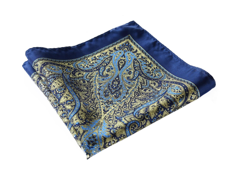 HN29B Handkerchief 100% Natural Silk Satin Mens Hanky Wedding Pocket Square