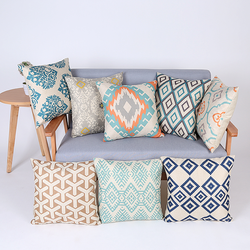 geometric cushion cover decorative throw pillows chair almofadas para sofa pillow cover cojines cushion cushions home decor