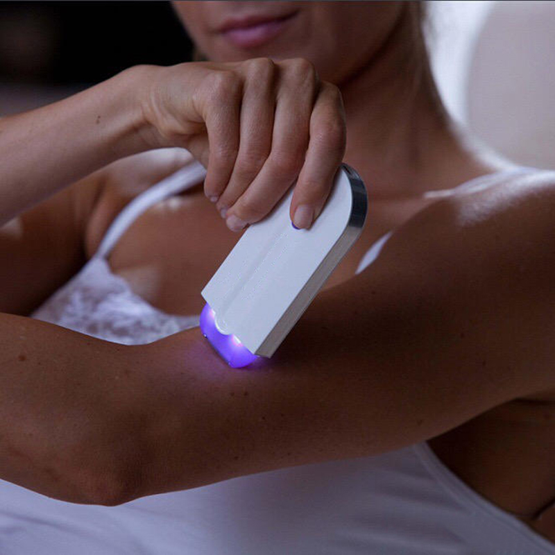 Лучший!  Электрический Лазерный Эпилятор Женщины Эпиляция Боль Без Эпиляции Чувство Света Депиляции Лица Дл�
