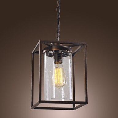 Edison Bulb Loft Classical Vintage Pendant Light Lamp with with Glass Shade(E27/E26 Base) Free Shipping