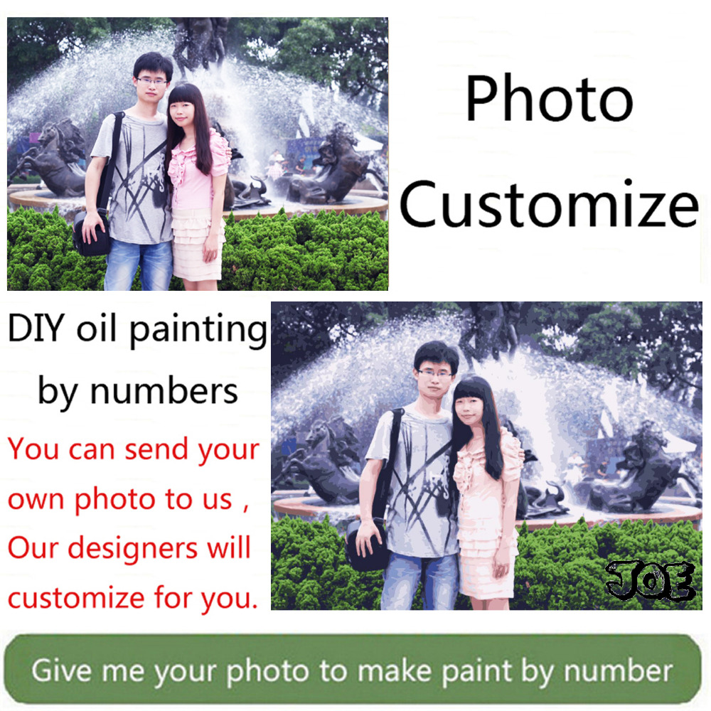 Photo Custom Make Your Own Diy Digital Oil Painting By Numbers Picture Drawing On Canvas Portrait