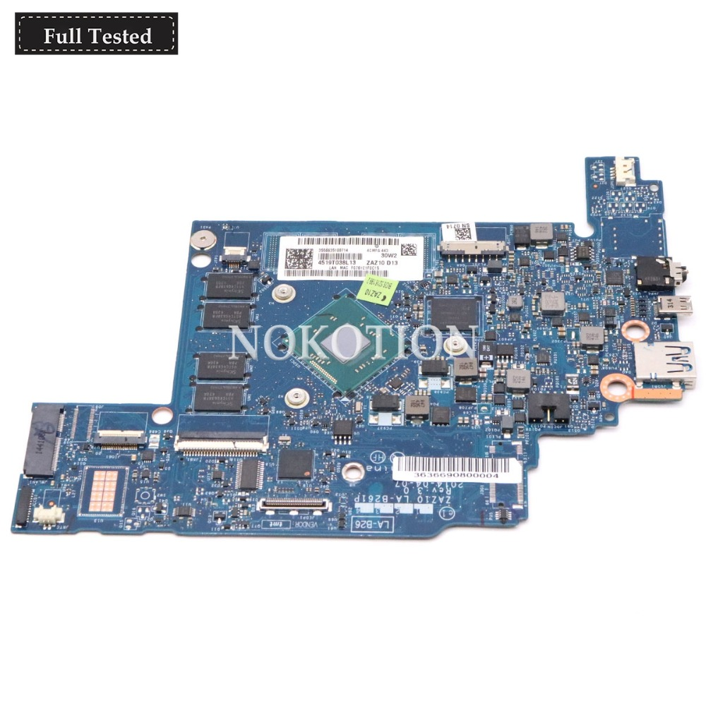 NOKOTION ZAZ10 LA-B261P Main board For Lenovo Chromebook N20 N20P laptop motherboard Celeron CPU Full testedNOKOTION ZAZ10 LA-B261P Main board For Lenovo Chromebook N20 N20P laptop motherboard Celeron CPU Full tested