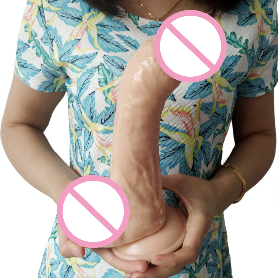 Huge Dildo Realistic Large Dong Little Bend Rod Large Butt Plug Anal Sex Toys Female Masturbation Lesbian Sex Products ST506