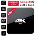 H96 Pro Android 6.0 Caixa De TV 3G 32 GB 2G 16G Amlogic S912 Octa Core KODI Bluetooth Wi-fi Mini PC Inteligente 4 K H.265 Media Player A95X