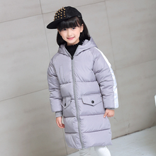 2017 New Baby Boys And Girls Winter Warm Long Coat Kid Hooded Cotton Padded Down Jacket Kid Casual Snow Wear Thick Winter Coats