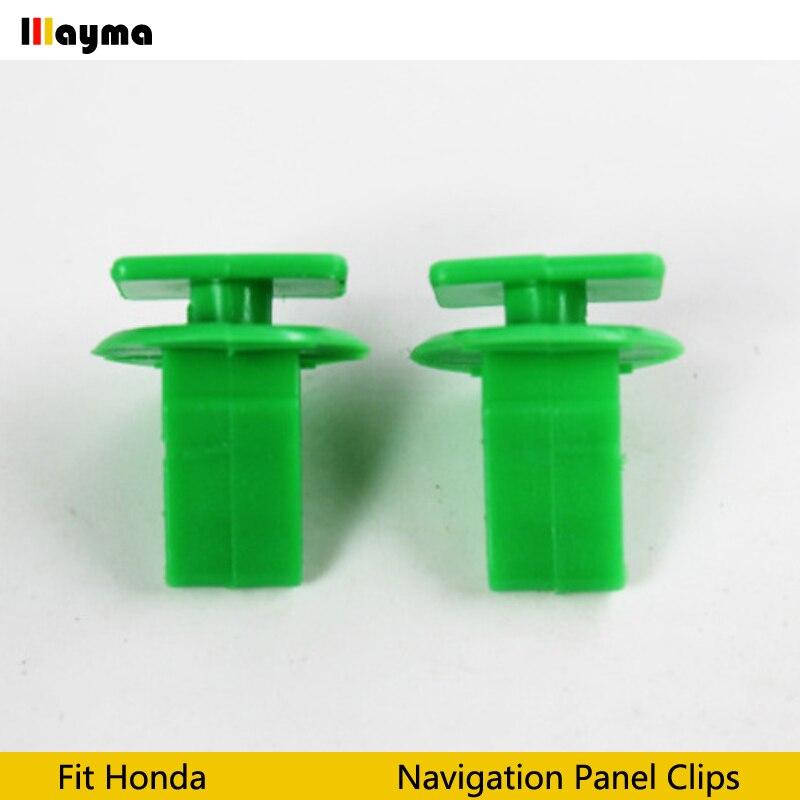 50X Car Plate Guard Windshield Plastic Fixed Clips for Honda Acura CRV spirior