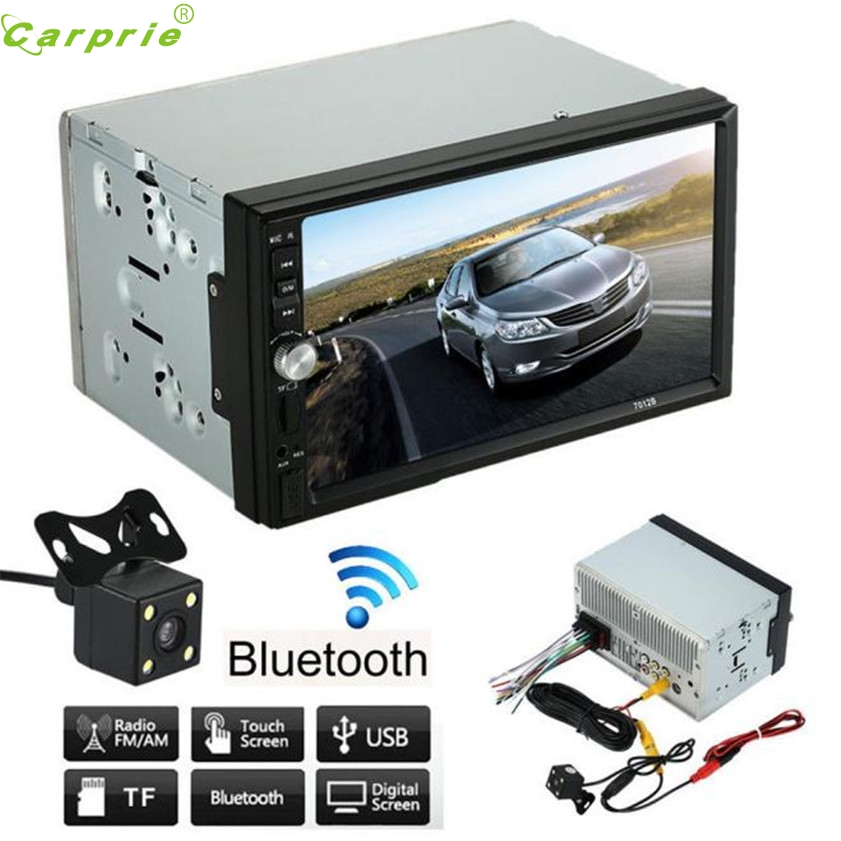 High Quality  Double 2 Din Car Stereo MP5 MP3 Player Radio Bluetooth USB AUX + Parking Camera 7 hd 2din car stereo bluetooth mp5 player gps navigation support tf usb aux fm radio rearview camera fm radio usb tf aux