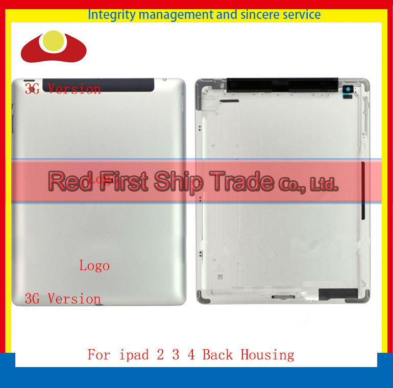50Pcs DHL IMEI Print Original For New iPad 2 ipad 3 ipad 4 Wifi or 3G Version Back housing Back Cover Rear Case 64GB 32GB 16GB