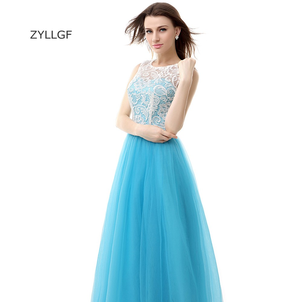 ZYLLGF Designer Evening Gowns Patterns A Line Sleeveless Long Tulle ...