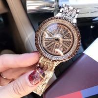 Luxury Women Watch Brand Crystal Sliver Dial Fashion Design Bracelet Watches Ladies Womenwrist Watches Relogio Feminino 2018