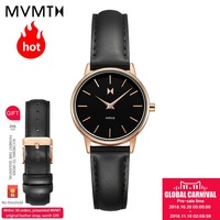 MVMT watch Genuine Simple vintage students watch European and American fashion style women's female watch genuine leather watch